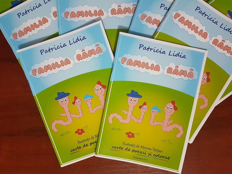 Familia Râmă, cartea de poezii și colorat