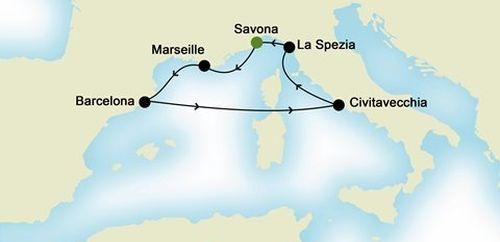 itinerariu Costa Diadema