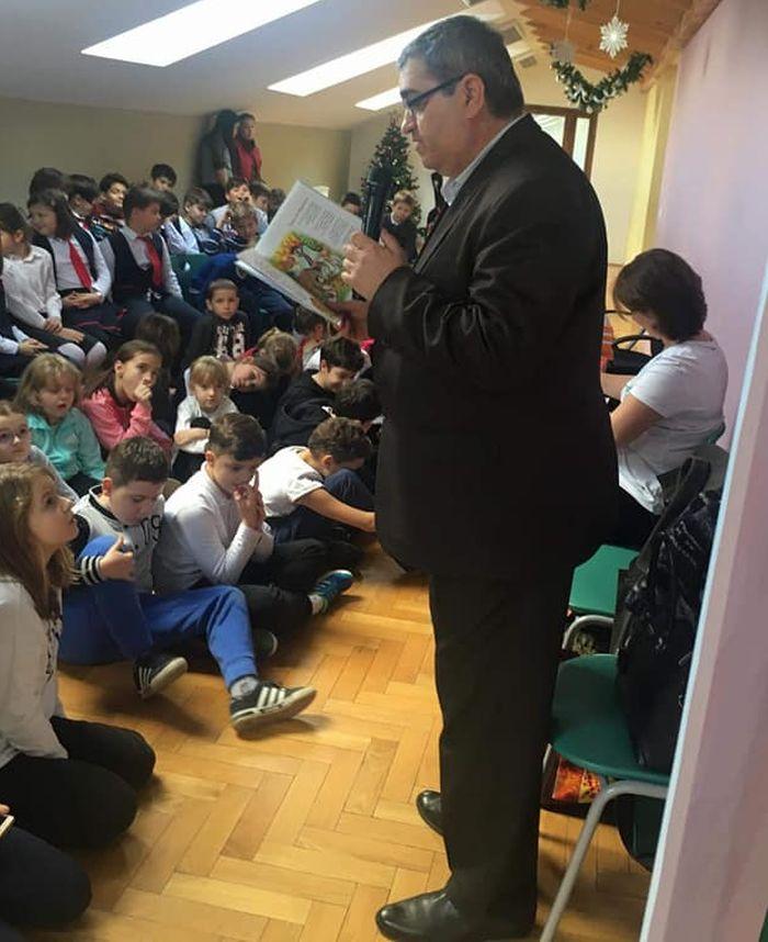 Scriitorul Petre Craciun la Liceul Teoretic Grigore Moisil Timisoara