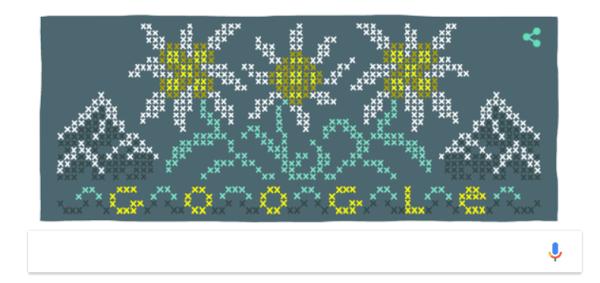 Doodle Google Edelweiss (floare de colt)