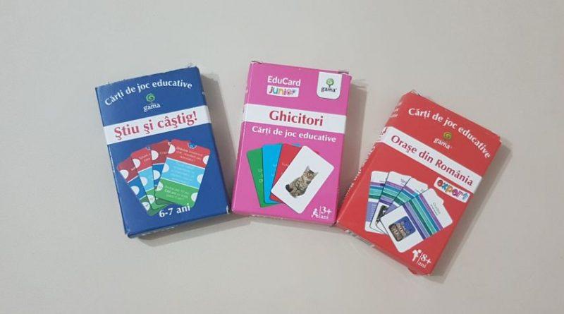 3 jocuri educative pentru copii de la Editura Gama