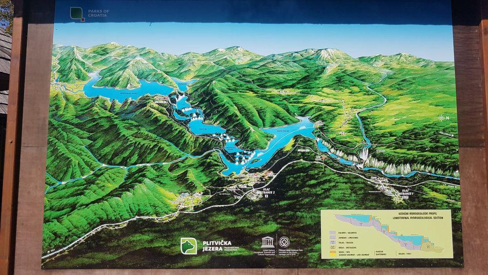 Parcul Național Lacurile Plitvice (harta)