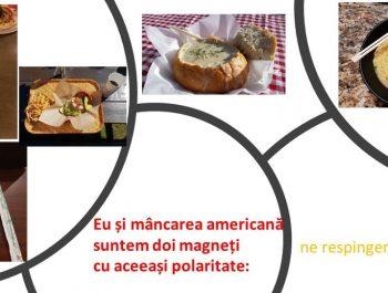 Eu și mâncarea americană suntem doi magneți cu aceeași polaritate: ne respingem continuu și ireversibil!