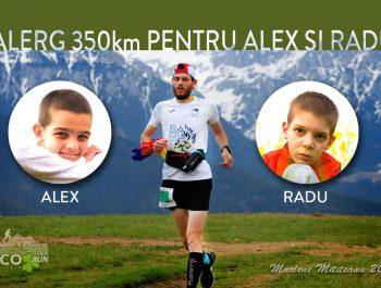 Robert Zamisnicu aleargă 350 km pentru Alex și Radu, doi frați cu autism! Haideți să îl susținem!