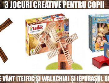 3 jocuri creative pentru copii: Moara de vânt și Iepurașul Bunny Boo
