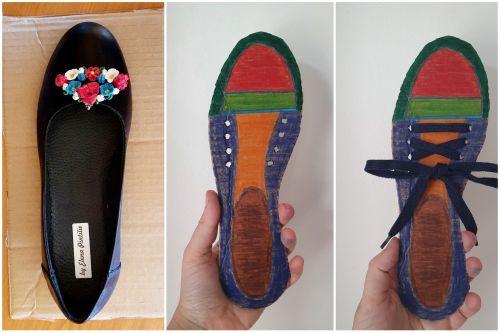 pantof din carton